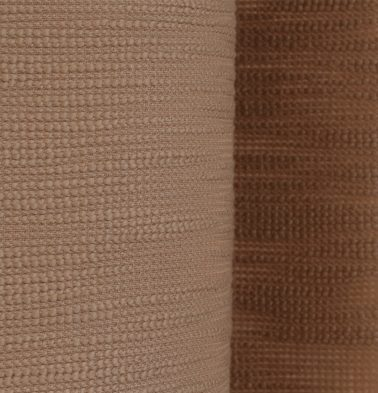 Slub Cotton Custom Blinds Camel Brown