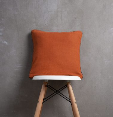 Apricot Cotton Cushion cover with Vintage Piping 16
