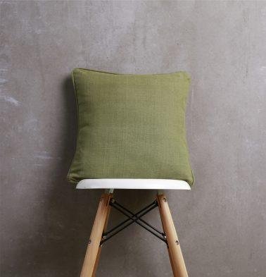 Chambray Cotton Cushion cover Iguana Green 16
