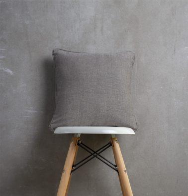 Chambray Cotton Cushion cover Nickel Grey 16