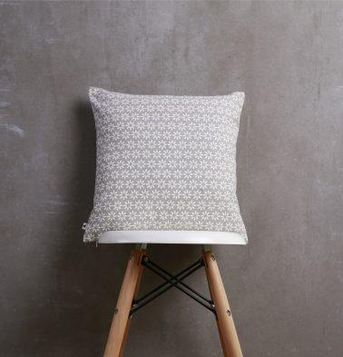 Flora Cotton Cushion cover Silver Grey 16