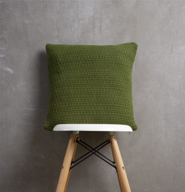 Handwoven Cotton Cushion cover Pesto Green 16