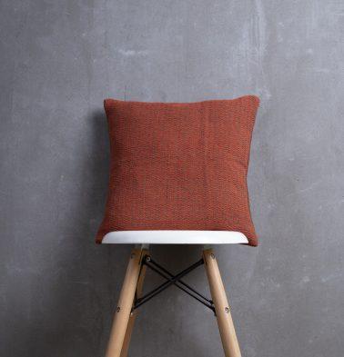 Handwoven Stripes Cotton Cushion cover Ginger Orange 16