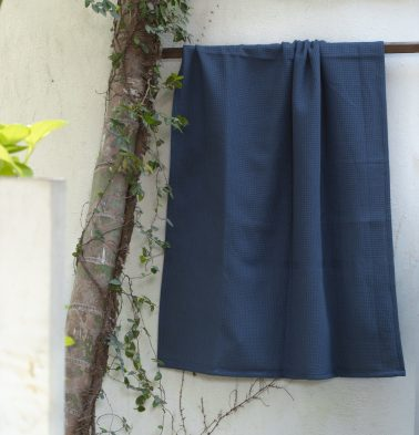 Honeycomb Cotton Bath towels Indigo