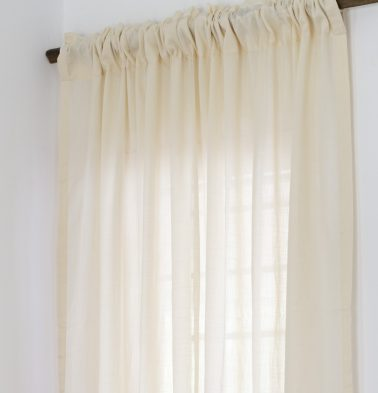 Slub Sheer Cotton Curtain Tapioca Beige