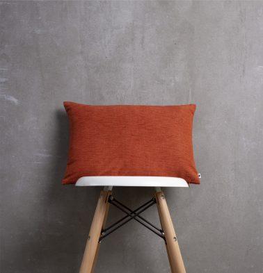 Textura Cotton Cushion Cover Clay Orange 12