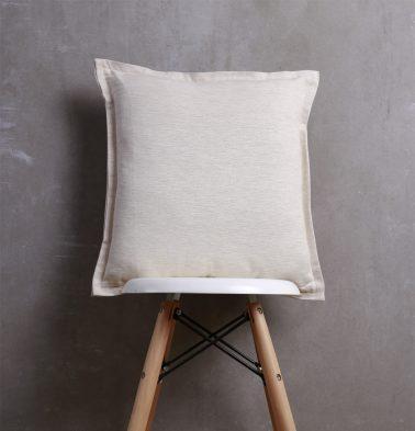 Textura Cotton Flanged Cushion Cover Fog Beige 18