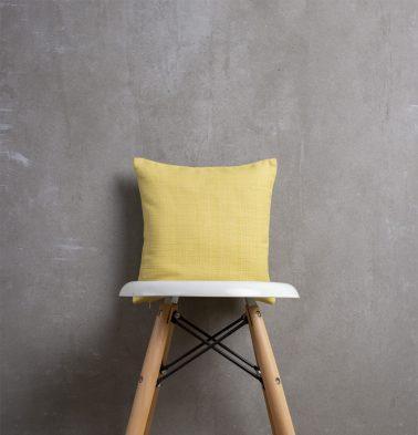 Yolk Yellow Cotton Cushion Cover  12