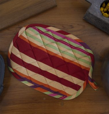 Bright Stripes Cotton Pot Holder Multicolor