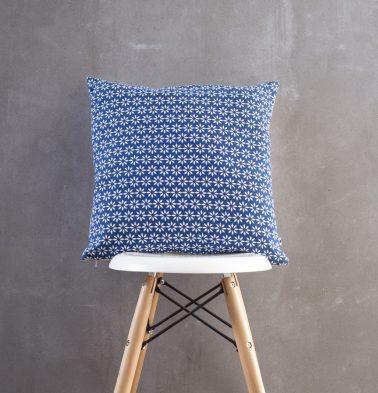 Flora Printed Cushion Cover Blue/White 18