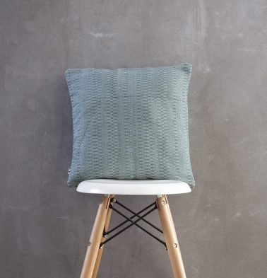 Handwoven Cotton  Jute Cushion Cover Blue/Grey 16