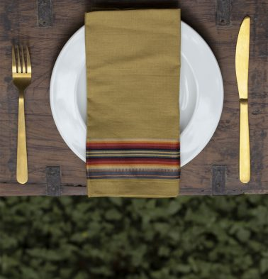 Stripes Cotton Napkins Ochre Set Of 6