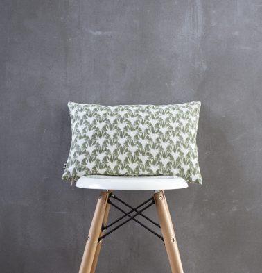 Ikat Cotton Cushion Cover Green 12