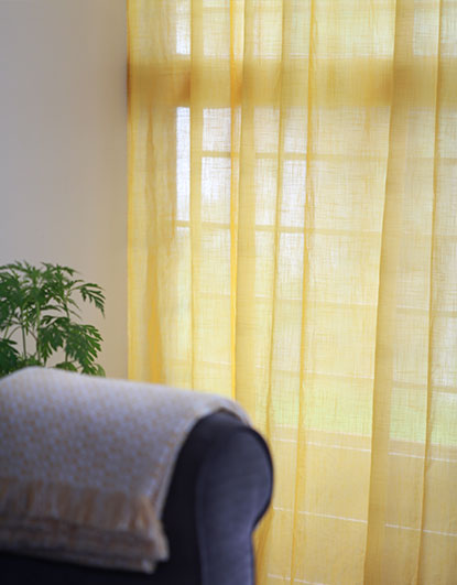 Yellow sheer curtains