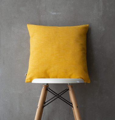 Textura Cotton Cushion cover Daffodil Yellow