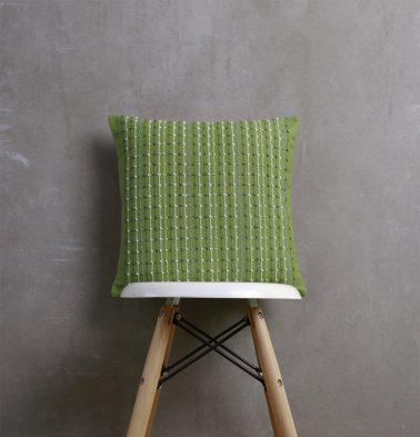 Handwoven Cotton Cushion cover Greenbriar 16
