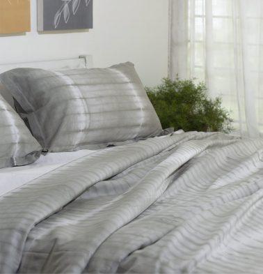 Lemon Drop Cotton Bedsheet Grey - With 2 pillow covers
