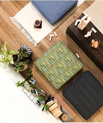 Floor Cushions on the floor
