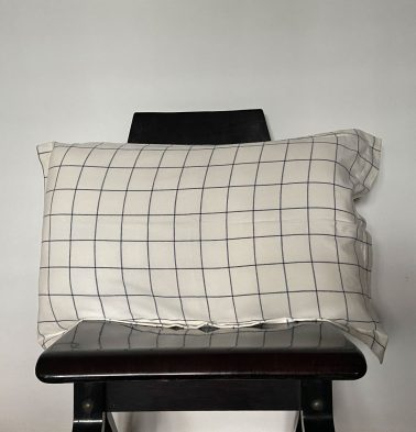 Lagom Chequered Pillow Cover Blue/White