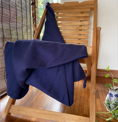 Slub Cotton Throws Indigo Blue