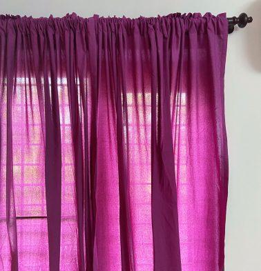 Solid Cotton Curtain Amethyst Purple