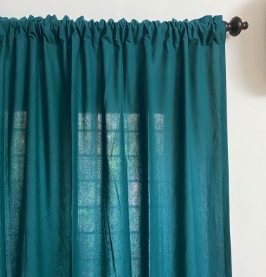 Solid Cotton Curtain Brittany Blue