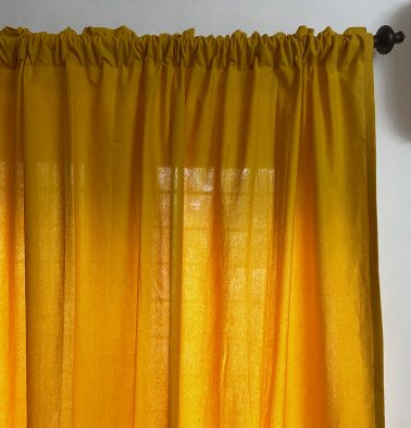 Solid Cotton Curtain Golden Rod Yellow