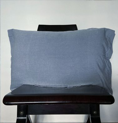 Chambray Pillow Cover Blue/White