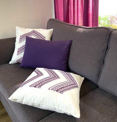 Arrow Stripes Cotton Cushion Covers - Bundle of 3