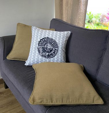 Embroidered Black Cotton Cushion covers  - Bundle of 3