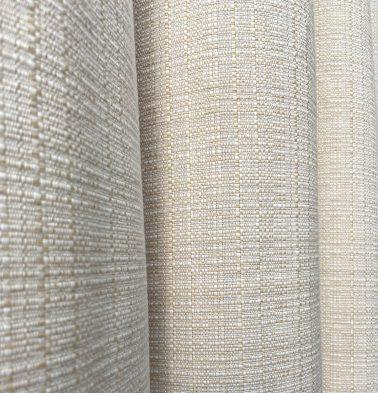Panama Weave Cotton Custom Blinds Creamy White