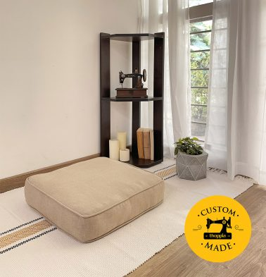 Customizable Floor Cushion, Cotton - Sesame Beige