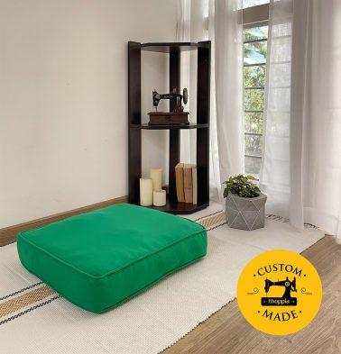 Customizable Floor Cushion, Cotton - Solid - Brilliant Green