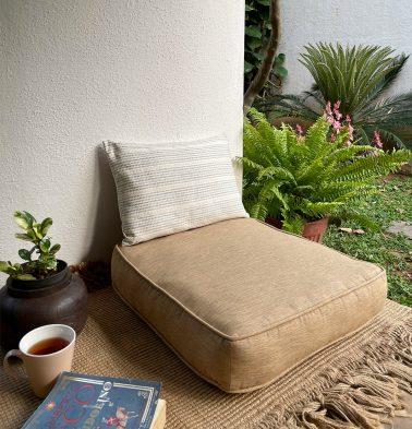 Textura Cotton Floor Cushion Lark