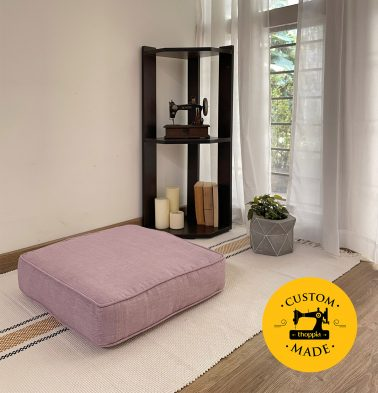 Customizable Floor Cushion, Textura Cotton - Lavender