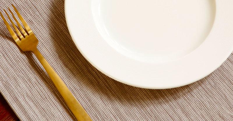 Handwoven Textura Cotton Table Mats Sand White- Set of 6