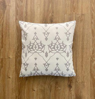 Customizable Cushion Cover, Cotton - Arabic Chevron - Dove Grey