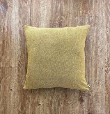 Customizable Cushion Cover, Chambray Cotton - Yellow/Grey