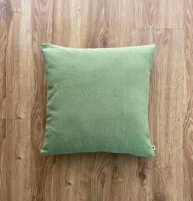 Customizable Cushion Cover, Chambray Cotton - Fern