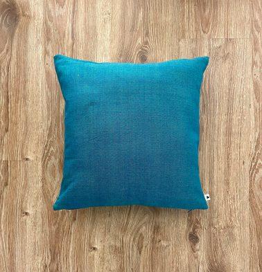 Customizable Cushion Cover, Chambray Cotton - Ocean Depth Green