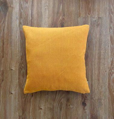 Customizable Cushion Cover, Chambray Cotton - Sunflower Yellow