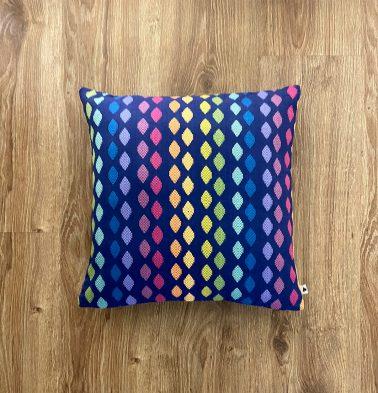 Customizable Cushion Cover, Cotton - Diamond - Blue