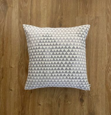 Customizable Cushion Cover, Cotton -  Star Triangles - Grey