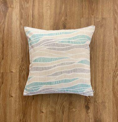 Customizable Cushion Cover, Cotton -  Wave Texture - Sea Blue