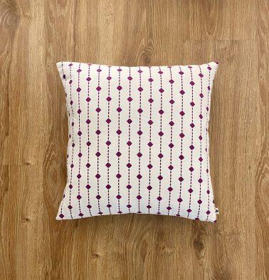 Customizable Cushion Cover, Cotton -  Diamond Lines -  Violet