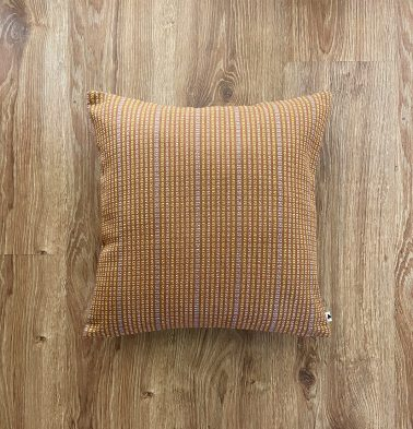 Customizable Cushion Cover, Cotton - Dobby Stripes - Brown