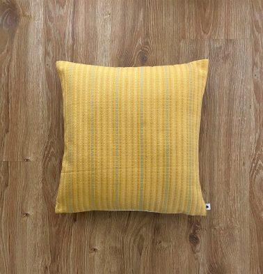 Customizable Cushion Cover, Cotton - Dobby Stripes - Yellow