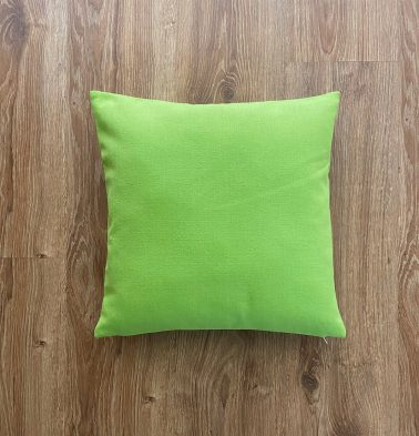 Customizable Cushion Cover,  Cotton - Solid - Lime Green