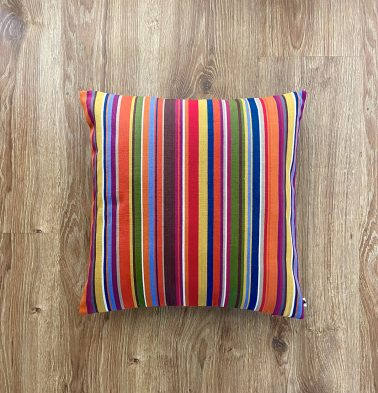 Customizable Cushion Cover, Cotton -  Stripes - Multi-color