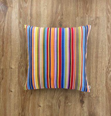 Customizable Cushion Cover, Cotton -  Sunny Stripes - Multi-color
